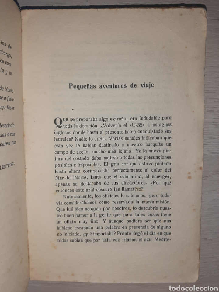 Libros antiguos: Diario de un comandante de un submarino alemán en la I Guerra Mundial. - Raro. - Fotografías - Foto 5 - 277526423