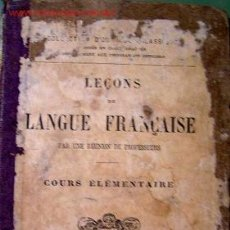 Libros antiguos: APRENDIZAJE DEL FRANCES (PRINCIPIOS DEL SIGLO XX). Lote 7982634