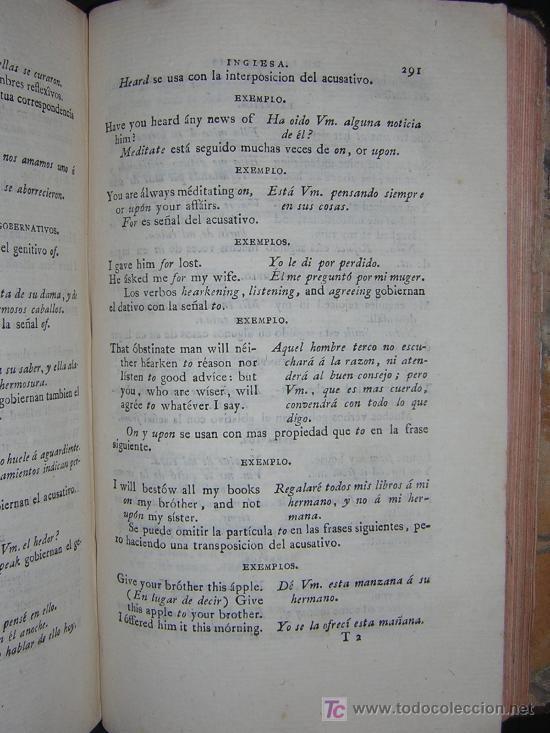 Libros antiguos: 1811 - GRAMATICA DE LA LENGUA INGLESA QUE CONTIENE REGLAS PARA SU PRONUNCIACION - Imprenta Real - Foto 5 - 25278025