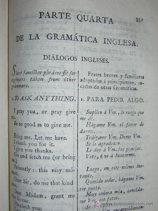 Libros antiguos: 1811 - GRAMATICA DE LA LENGUA INGLESA QUE CONTIENE REGLAS PARA SU PRONUNCIACION - Imprenta Real - Foto 10 - 25278025