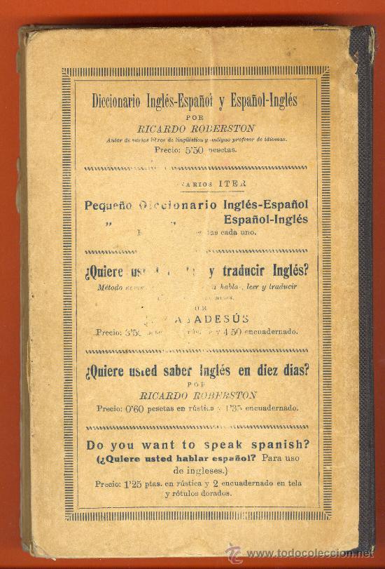 Libros antiguos: Antiguo libro ¿Quiere usted aprender el Inglés sin Maestro? HENRY MEYER. EDITOR RAMÓN SOPENA. - Foto 2 - 26700295