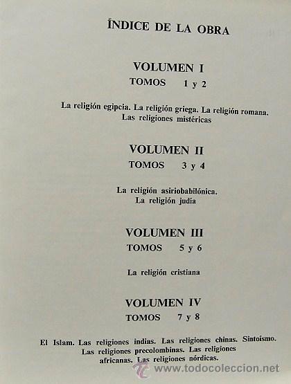 Libros antiguos: 3.- LAS GRANDES RELIGIONES 8 TOMOS (Obra completa) - Foto 3 - 26682434