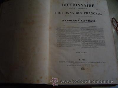 Libros antiguos: 1839 DICTIONNAIRE GENERAL ET GRAMATICAL DES DICTIONNAIRES FRANCAISES 2 TOMOS - Foto 2 - 27555546