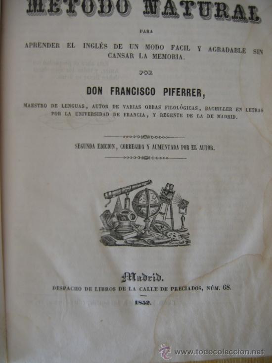 Libros antiguos: GRAMÁTICA INGLESA. AÑO 1852. POR D. FRANCISCO PIFERRER. 2ª EDICIÓN. - Foto 8 - 27157532
