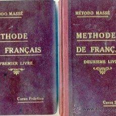Libros antiguos: MÉTODO MASSÉ DE FRANÇAIS - DOS TOMOS (1923). Lote 28833187