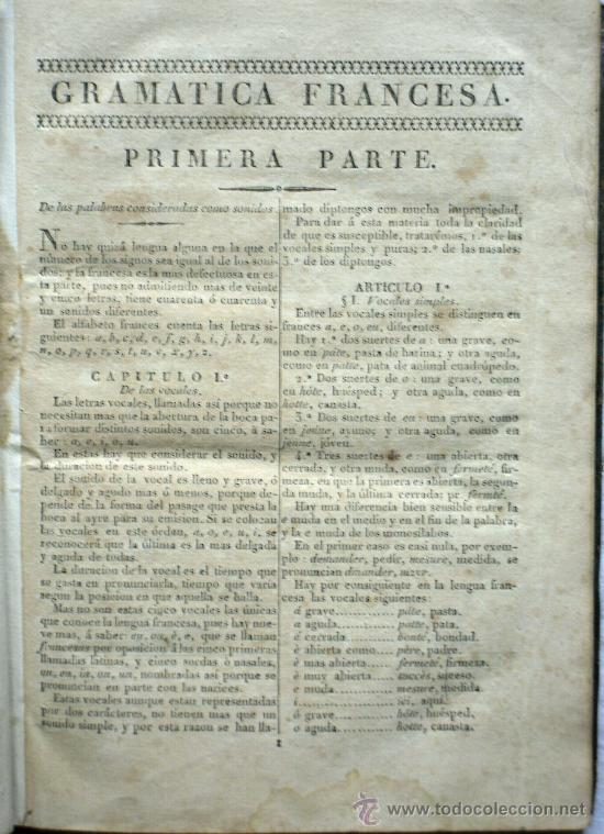 Libros antiguos: GRAMÁTICA FILOSOFICA Y LITERARIA DE LA LENGUA FRANCESA - IMPRENTA DE IGUERETA - LA CORUÑA - AÑO 1834 - Foto 4 - 29727332