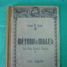 Libros antiguos: METODO DE INGLES. LIBRO SEGUNDO 1921. Lote 31846780