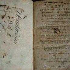 Libros antiguos: ARTE DE HABLAR BIEN FRANCÉS O GRAMÁTICA COMPLETA DIVIDADA EN TRES PARTES.1804.IMPRENTA DE SANCHA. Lote 32439206