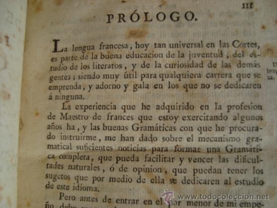 Libros antiguos: Arte de hablar bien francés o gramática completa dividada en tres partes.1804.IMPRENTA DE SANCHA - Foto 5 - 32439206