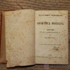 Libros antiguos: 2142- GRAMATICA FRANCESA. EDUARDO BENOT. IMP. LA REVISTA MEDICA 1858.. Lote 34733305