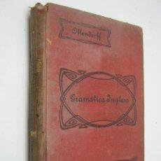 Libros antiguos: GRAMATICA INGLESA - AÑO 1920 - EDUARDO BENOT. Lote 36477579
