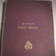 Libros antiguos: ENGLISH FIRST BOOK BERLITZ 1908. Lote 37818161