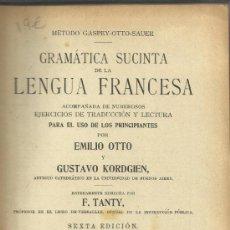 Libros antiguos: MÉTODO GASPEY-OTTO-SAUER PARA EL ESTUDIO DE LAS LENGUAS MODERNAS. LENGUA FRANCESA. JULIO GROOS. 1920. Lote 38722516