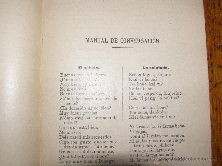 Libros antiguos: ¿QUIERE USTED HABLAR ESPERANTO? MANUAL PRÁCTICO DE CONVERSACIÓN - SOPENA - 1908 - - Foto 3 - 40285493