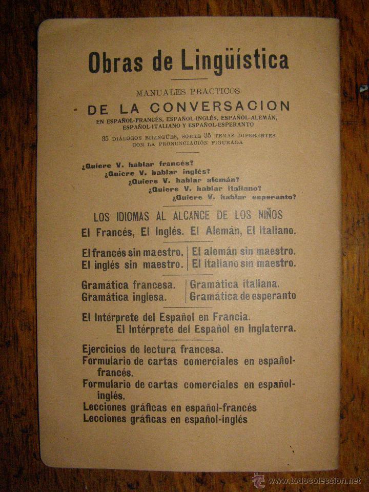 Libros antiguos: ¿QUIERE USTED HABLAR ESPERANTO? MANUAL PRÁCTICO DE CONVERSACIÓN - SOPENA - 1908 - - Foto 4 - 40285493