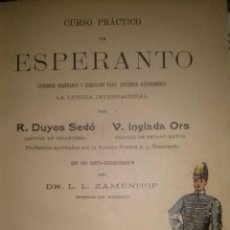 Libros antiguos: TRES OBRAS DE ESPERANTO CURSO PRACTICO + MANUAL Y EJERCICIOS + CLAVE DE LOS TEMAS. Lote 40294950