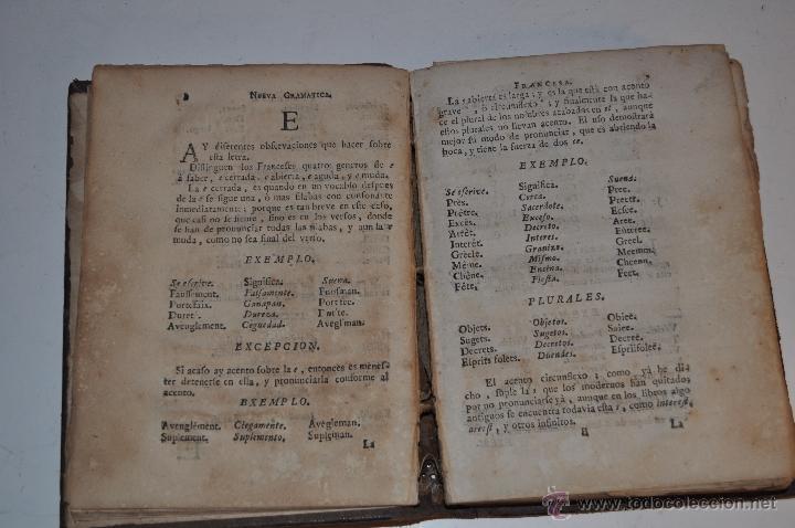 Libros antiguos: Nueva Gramática Francesa, con un nuevo método para aprender à pronunciar. Tomo Primero. RM64831-V - Foto 2 - 41666296
