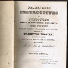 Libros antiguos: ADES INSTRUCTIVES OU DIALOGUES - FRANCÉS - 1864 - FOTO ADICIONAL. Lote 42113434