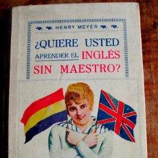 Libros antiguos: QUIERE UD. APRENDER EL INGLES SIN MAESTRO ?. SOPENA. BANDERA REPUBLICANA. Lote 42370504