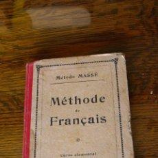 Libros antiguos: METHODE DE FRANÇAIS. Lote 46349499