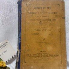Libros antiguos: AÑO 1.888.- METODO DE AHN. PRIMER CURSO DE FRANCES POR H.MAC-VEIGH.. Lote 234549770