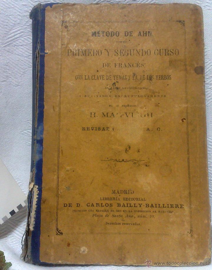 Libros antiguos: AÑO 1.888.- METODO DE AHN. PRIMER CURSO DE FRANCES POR H.MAC-VEIGH. - Foto 18 - 234549770