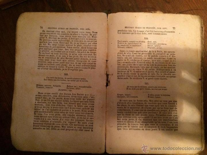 Libros antiguos: Libro escolar segundo curso de Francés años 20 - Foto 2 - 49207178