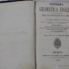 Libros antiguos: L-1365. NOVISIMA GRAMATICA INGLESA. ANTONIO BERGUES. 1864.. Lote 49207751