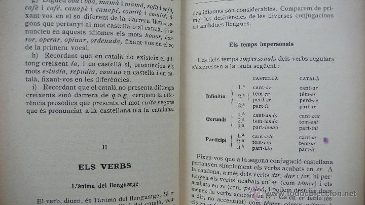 Libros antiguos: EL CATALÀ I EL CASTELLÀ COMPARATS. C.A. JORDANA. 1933. - Foto 3 - 54559211