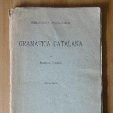 Libros antiguos: GRAMÀTICA CATALANA - POMPEU FABRA - BIBLIOTECA FILOLÒGICA 1931. Lote 60871911