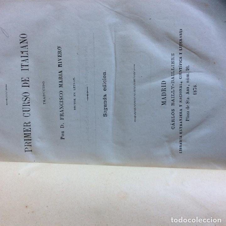 Libros antiguos: Método de AHN Primer Curso de Italiano 1878 Segunda Edicion - Foto 2 - 66807146