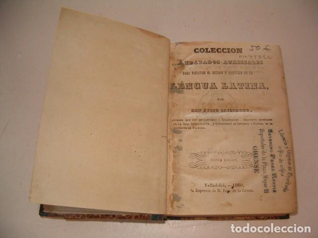 Libros antiguos: Colección Tratados Auxiliares para facilitar el estudio y enseñanza de la Lengua Latina. RM77712 - Foto 3 - 68562757