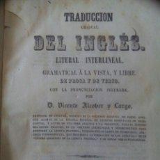 Libros antiguos: LIBRO TRADUCCIÓN GRADUAL DEL INGLÉS LITERAL INTERLINEAL 1859. Lote 72875233