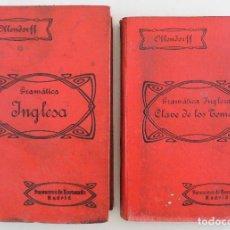 Libros antiguos: GRAMATICA INGLESA Y METODO PARA APRENDERLA (1911) EDUARDO BENOT - LOS 2 TOMOS - OLLENDORFF REFORMADO. Lote 74498443