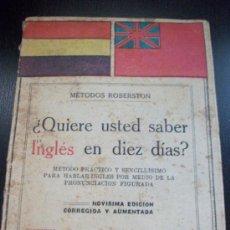 Libros antiguos: REPUBLICA : METODO ROBERSTON PARA APRENDER INGLES . DE SOPENA . BANDERA REPUBLICA. Lote 76897519