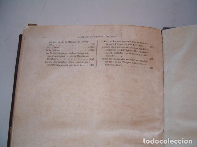 Libros antiguos: Grammaire des Gammaires ou Analyse Raisonnée des Meilleurs Traités. RM79511. - Foto 4 - 80341449