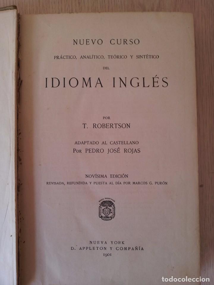 Libros antiguos: T. ROBERTSON - NUEVO CURSO DEL IDIOMA INGLES, NOVISIMA EDICION 1901 - Foto 2 - 80874523