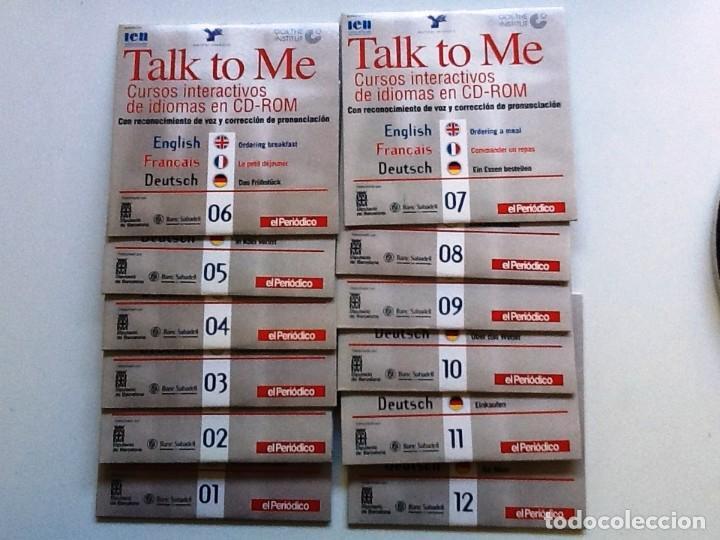 TALK TO ME CURSOS INTERACTIVOS 12 CD'S COMPLETO ENGLISH, FRANCAIS, DEUTSCH (Libros Antiguos, Raros y Curiosos - Cursos de Idiomas)