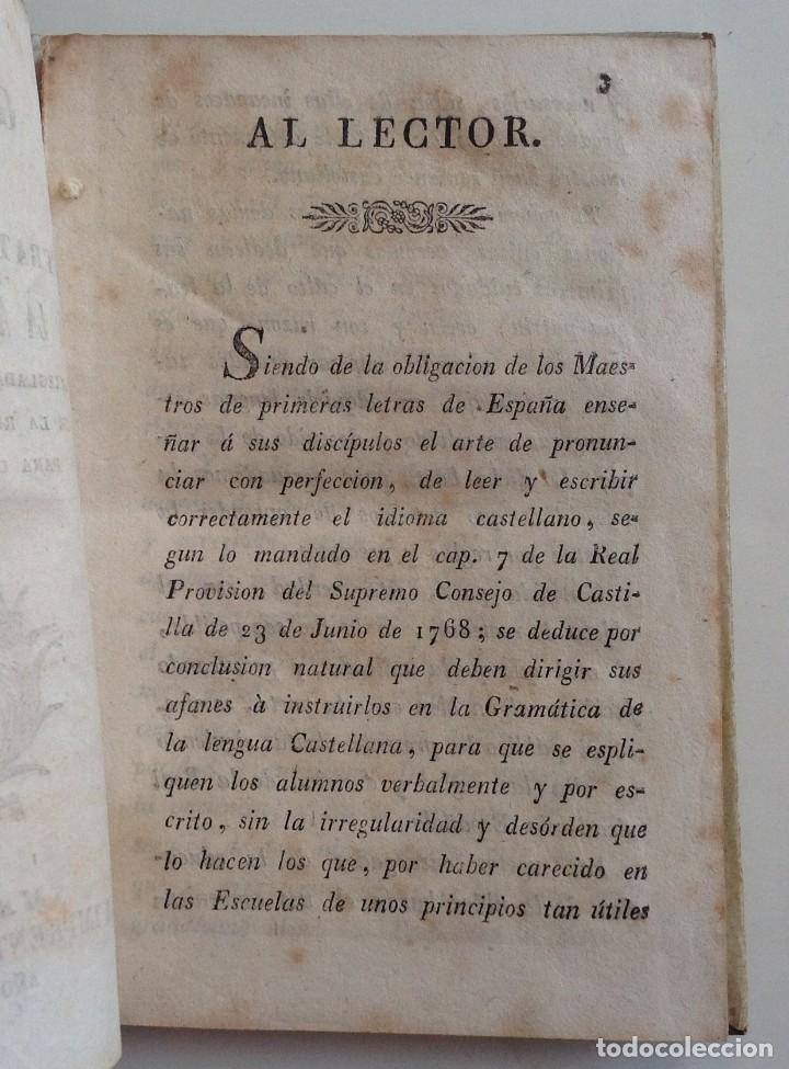 Libros antiguos: MATARO año 1830 * GRAMATICA CASTELLANA analogia y sintaxis * pergamino * 160 pgs - Foto 4 - 87653744