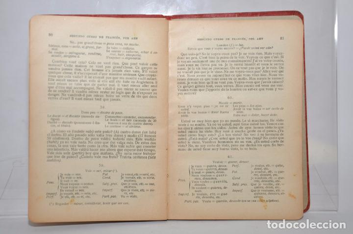 Libros antiguos: SEGUNDO CURSO DE FRANCÉS – METODO DE AHN - Foto 4 - 95325968