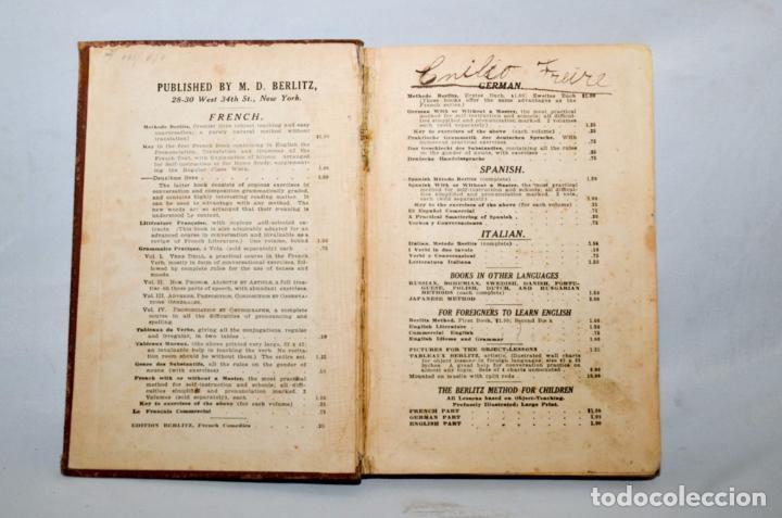 Libros antiguos: SECOND BOOK – M.D. BERLITZ - Foto 3 - 95326060