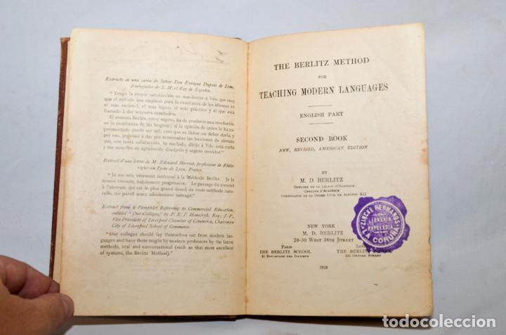 Libros antiguos: SECOND BOOK – M.D. BERLITZ - Foto 4 - 95326060