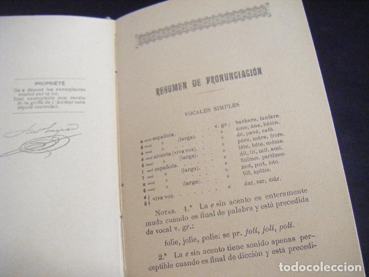 Libros antiguos: JML LIBRO GRAMMAIRE THEORIQUE ET PRACTIQUE LA LANGUE FRANCAISE, ANTONIO GASPAR DEL CAMPO 1897 - Foto 5 - 96326055