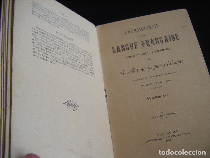 Libros antiguos: JML LIBRO GRAMMAIRE THEORIQUE ET PRACTIQUE LA LANGUE FRANCAISE, ANTONIO GASPAR DEL CAMPO 1897 - Foto 6 - 96326055