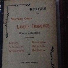 Libros antiguos: LIBROS FRANCÉS ANTIGUOS . Lote 97527895