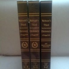 Libros antiguos: WEBSTER´S THIRD NEW INTERNATIONAL DICTIONARY ( 3 TOMOS, COMPLETA). Lote 97783643