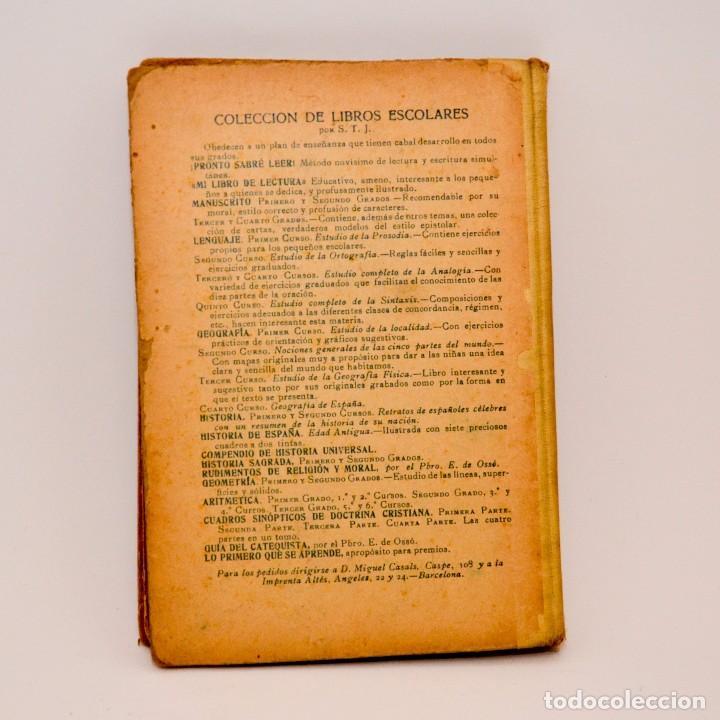 Libros antiguos: HISTÓRIA SAGRADA, ESTUDIO DEL ANTIGUO Y NUEVO TESTAMENTO - PRIMERO Y SEGUNDO GRADOS - Foto 2 - 99909007