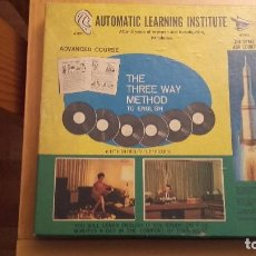 Libros antiguos: AUTOMATIC LEARNING INSTITUTE THE THREE WAY METHOD TO ENGLISH. Lote 100897715