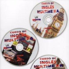 Libros antiguos: CURSO DE INGLES MULTIMEDIA - LOTE DE 11 CDROM - CDWARE - 1996. Lote 102443751