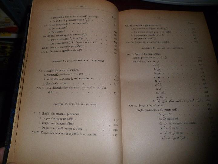 Libros antiguos: COURS DE LANGUE ARABE. CORRIGÉ DES EXERCICES. P. BELOT TEXTO FRANCÉS - ÁRABE. AÑO 1922. RARO - Foto 9 - 44057339